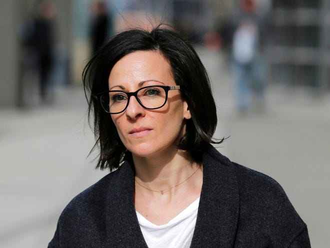 In this Jan. 29, 2019 file photo, Lauren Salzman leaves Brooklyn federal court in New York. Testifying in NXIVM leader Keith Raniere's trial on sex trafficking charges Tuesday, May 21, 2019, Salzman said that when Mexican authorities broke down his door at a villa in Puerta Vallarta to grab Raniere, she was there and tried to stand up to them while he hid in a closet.