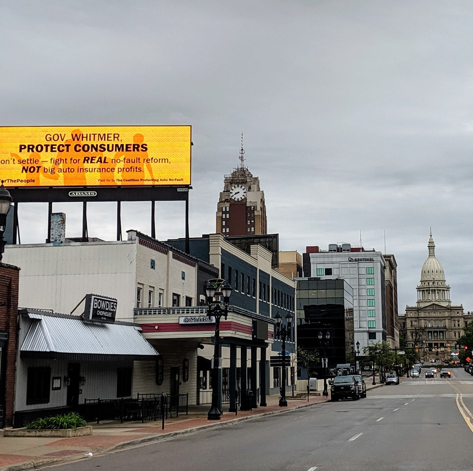 Billboards urge Whitmer not to 'settle' on auto insurance