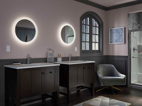 New lighted mirrors are now available that feature built-in flat technology lighted frames.