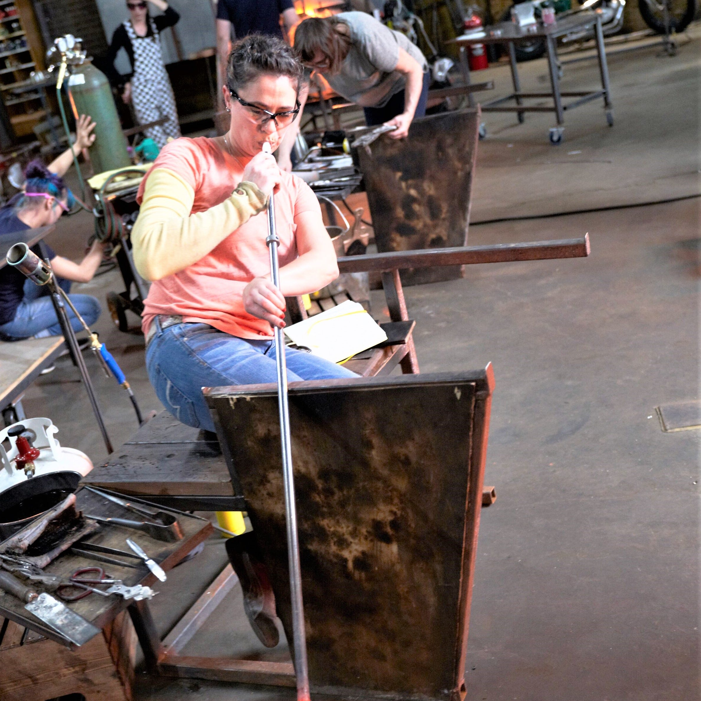 """Glass artist Annette Sheppard, who was a contestant on the Netflix series """"Blown Away,"""" is the guest artist for this week's 2300° at the Corning Museum of Glass."""