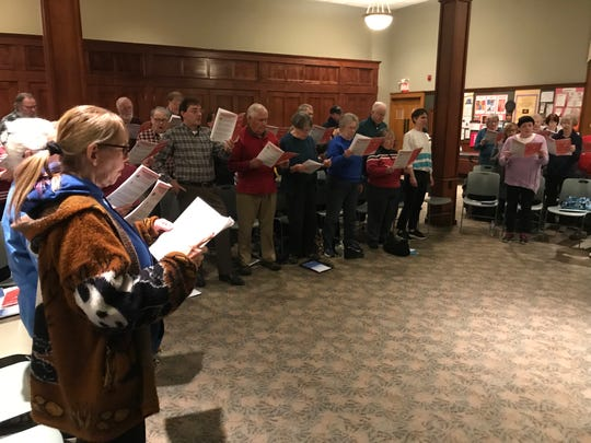 "Common Time Choral Group rehearses ahead of the upcoming ""Potporri of Music"" concert, which will be held on June 1."
