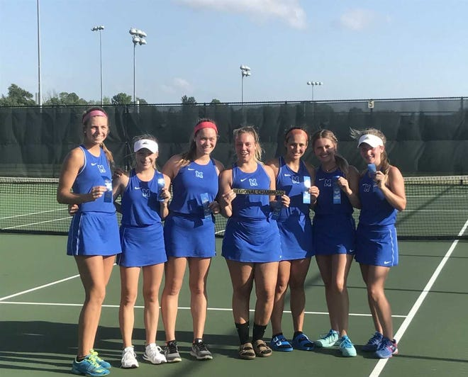 Memorial defeated Mater Dei 5-0 to win the girls tennis regional championship