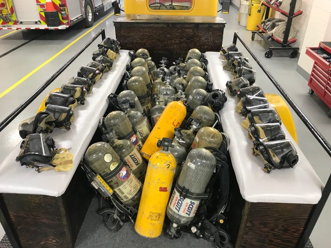 The Lindsey Volunteer Fire Department is donating several air bottles, packs and safety masks to fire departments in Haiti, Dominican Republic, Antigua and Barbuda and St. Vincent and the Grenadines.