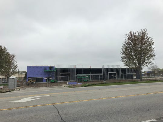 Noodles & Co. and trendy eye care center Modern Eyes will take two of the five spots in a strip mall under construction in the 2400 block of Lineville Road, in Howard.