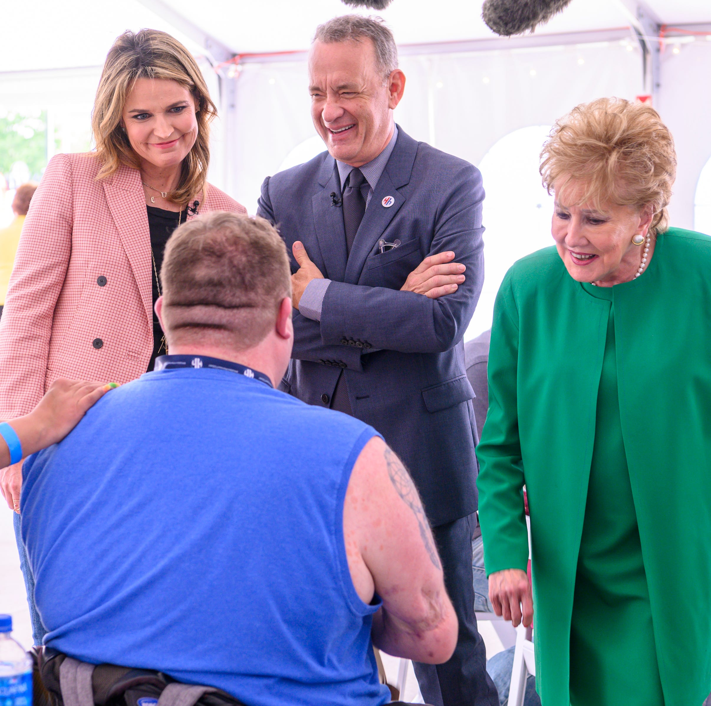 Tom Hanks, Savannah Guthrie and Andrew Luck join Indiana military veterans, caregivers