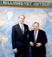 Hoosier evangelist Lester F. Sumrall, widely regarded as the father of Christian television, and his grandson, Lester L. Sumrall, in an undated photo taken sometime before the elder Sumrall's death in 1996.
