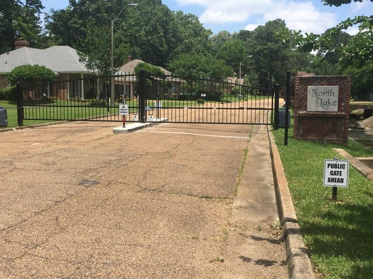 Five neighborhoods in Jackson have installed public access gates since an amended gate ordinance was passed by the Jackson City Council in 2017. This gate is located on Heather Drive near Northbrook Drive.