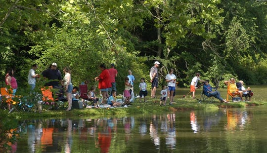 Children and families fished for free at The Cove at Concord Park on June 8.
