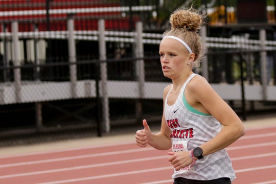 Alli Steffey won the individual cross country sectional title Saturday at Tippecanoe Amphitheater, leading West Lafayette to a 10th-straight team title.
