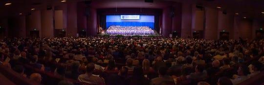 St Thomas More Graduation Ceremony at the Heymann Center. Tuesday, May 21, 2019.
