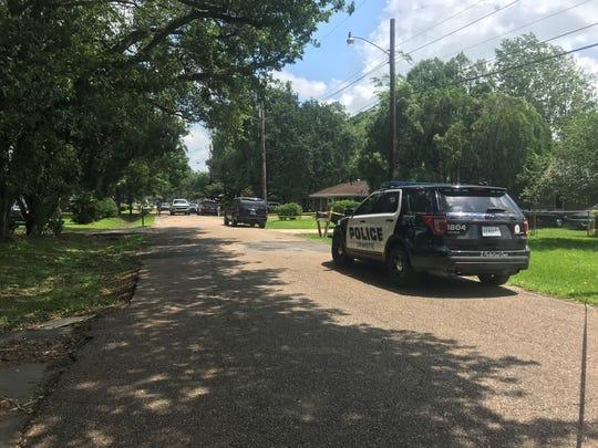 A man was found dead underneath a carport Wednesday morning.