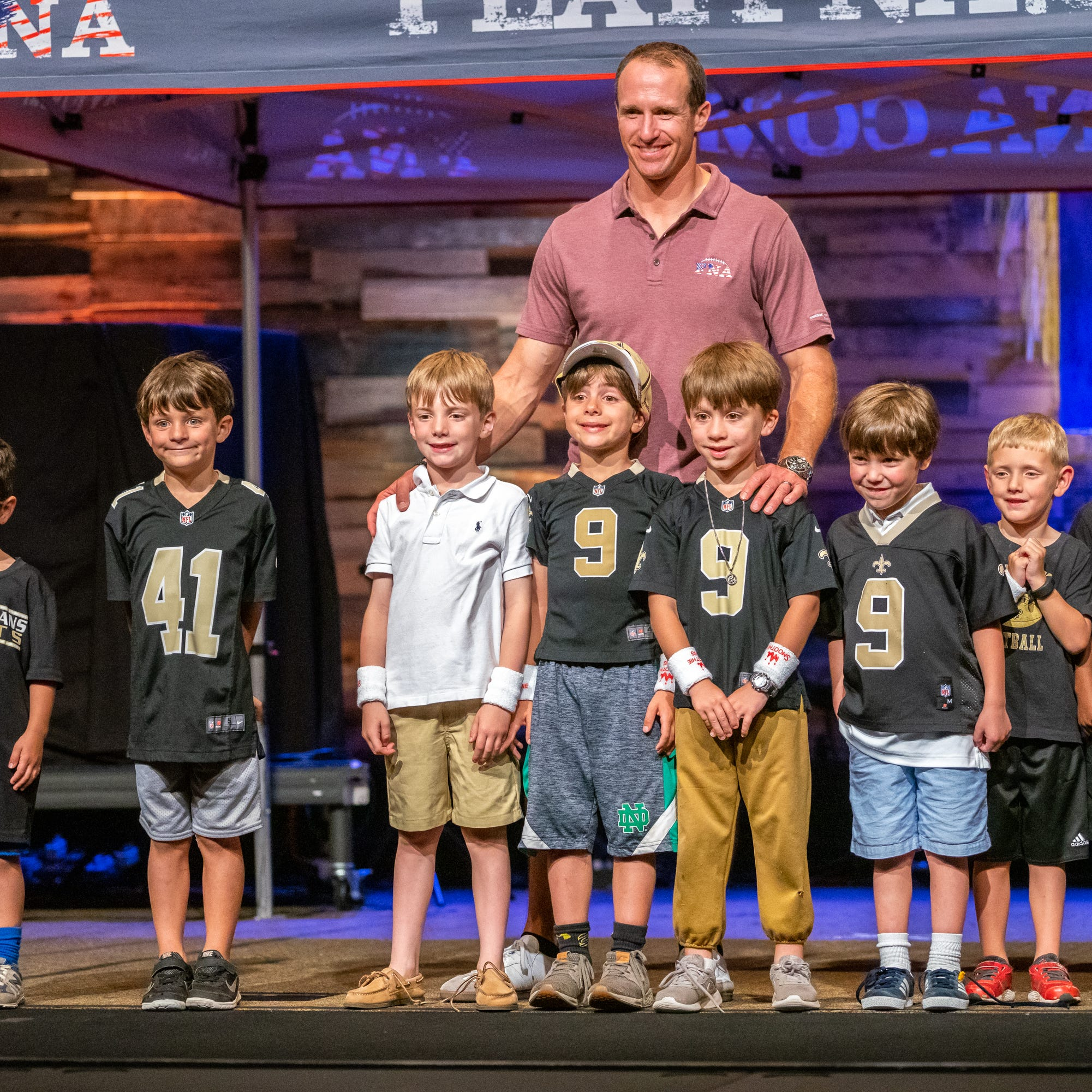 Brees combines love of family, football with Football 'N' America