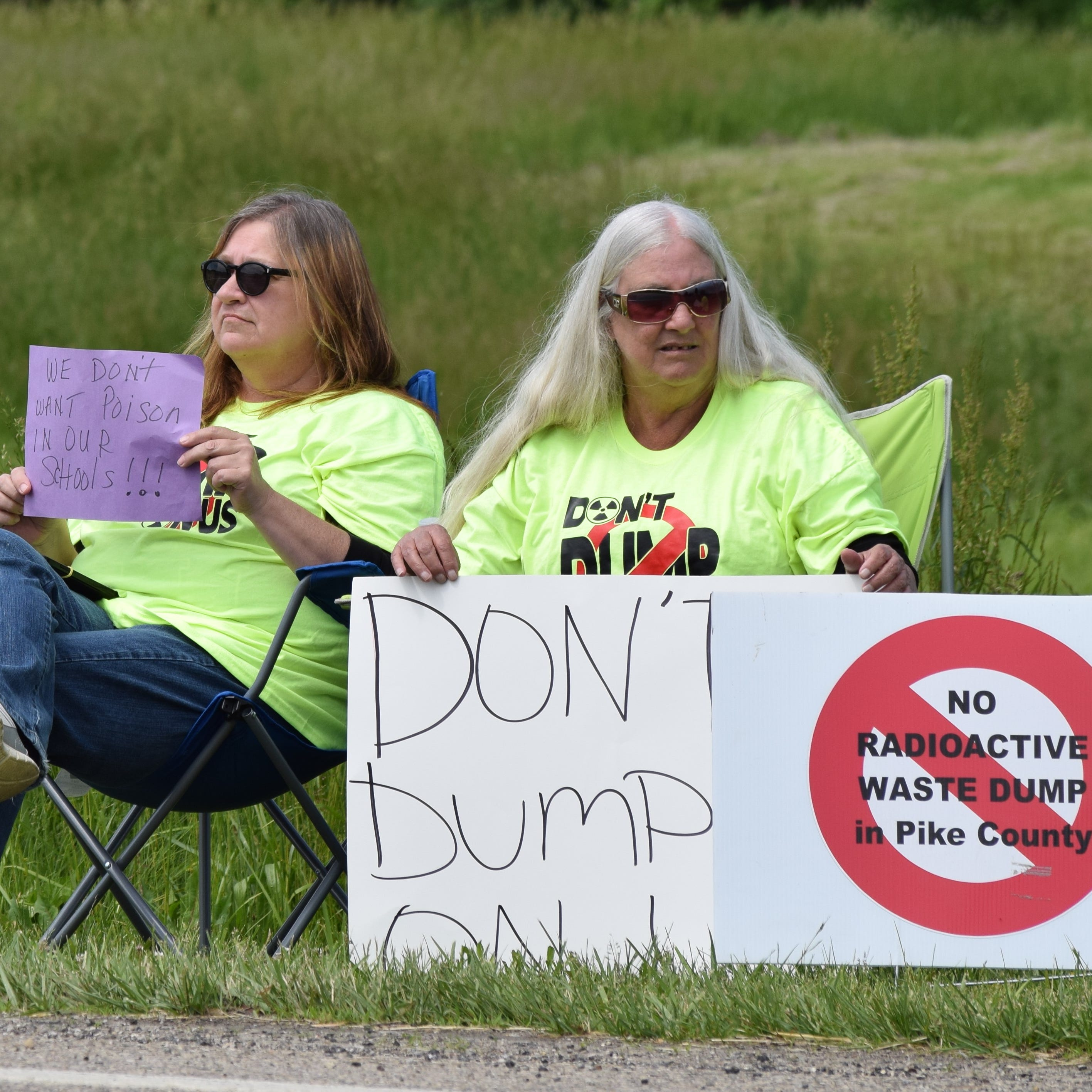 Pike County residents protest ongoing waste disposal facility work