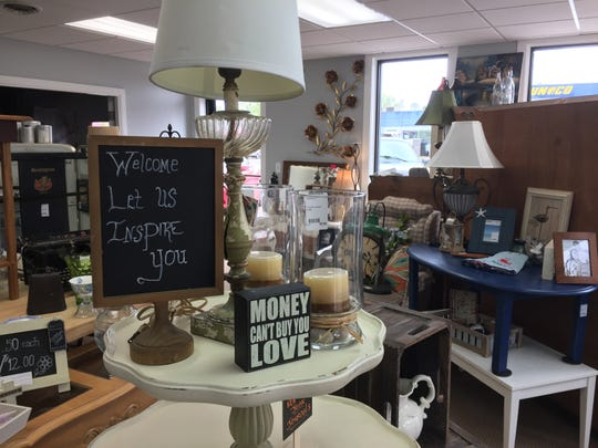 Consignment shop Made 2 Inspire Resale Boutique will filled with furnishings, home decor and other items at the shop's new downtown Howell locations, Wednesday, May 22, 2019.