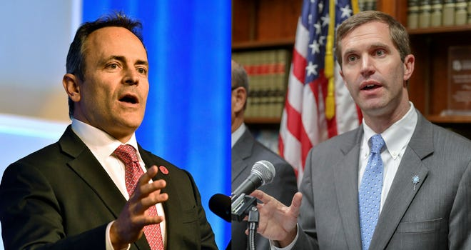 It's incumbent Matt Bevin vs. Andy Beshear in the governor's race this Novemeber