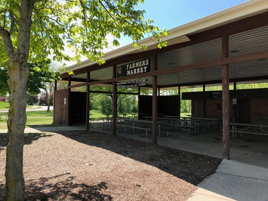The current Meridian Township Farmers Market pavilion.
