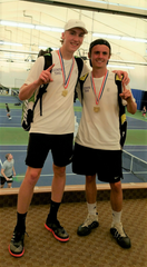 Lexington state qualifiers Benton Drake, left, and Blake Webster lost only five games in four matches en route to a district doubles title.
