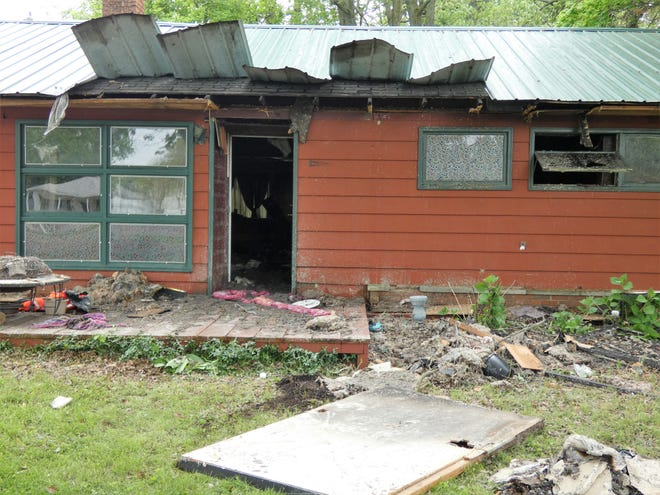 Fire investigators believe a Tuesday night blaze at 376 Forest Lawn Blvd was intentionally set.