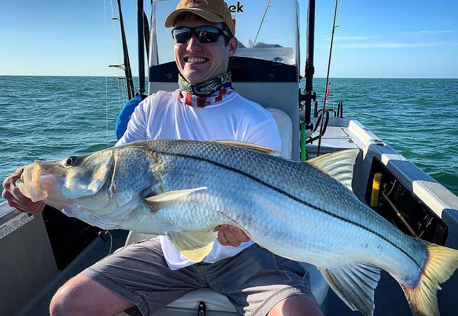 Matt from Minnesota with a nice 42-inch snook.