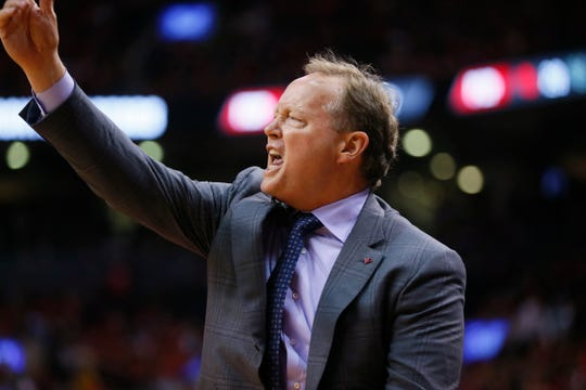 Bucks head coach Mike Budenholzer isn't pleased with a call on Tuesday night.