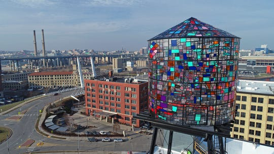 The Coakley Brothers Co. building, with its mosaic water tower, is among the 23 winners in this year's Mayor Design Awards.