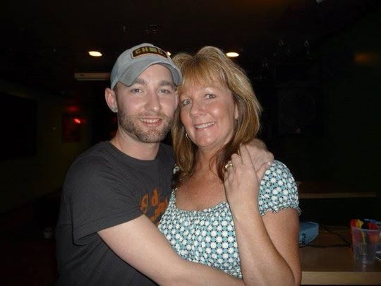 Jonah Marciniak, left, is pictured with his mother Brenda Mroch. Marciniak died by suicide in a Shorewood jail cell in 2016.