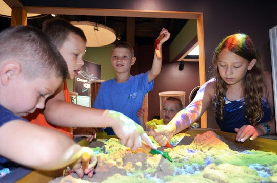 The Kinect Sandbox offers a hands-on activity at the Farm Wisconsin Discovery Center.