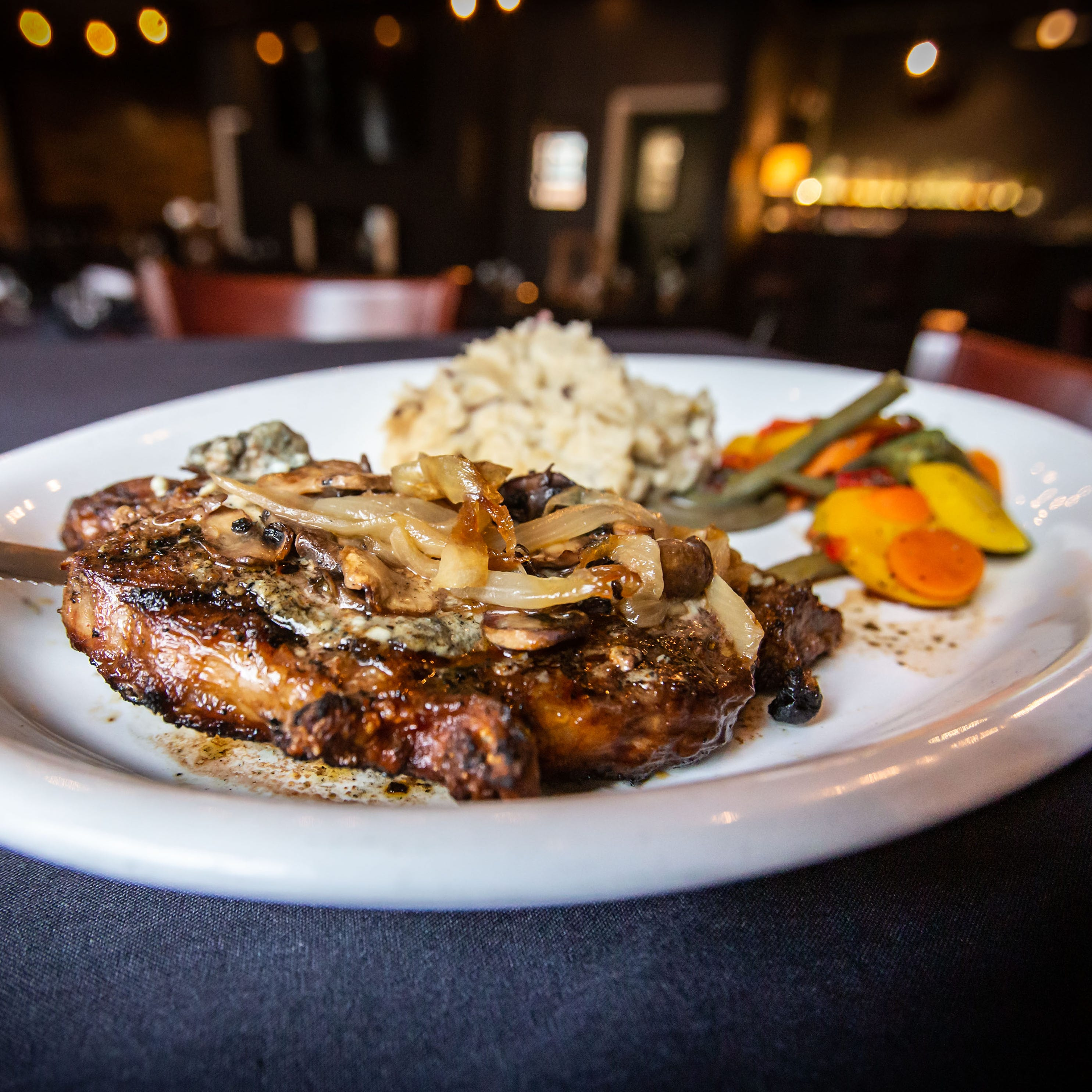 The signature Main Mill Steak, which features a...