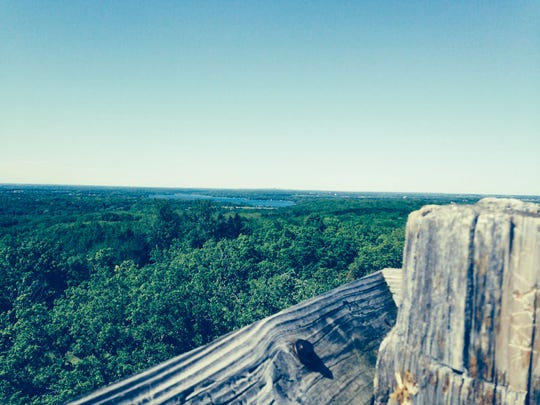 The view from the top of the observation tower at Lapham Peak is spectacular.