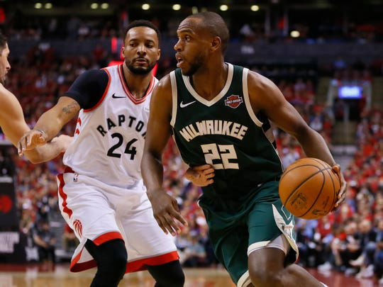 Bucks forward Khris Middleton led the Bucks with 30 points.
