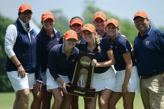 Auburn women's golf bowed out in the semifinals  with a loss to Wake Forest.