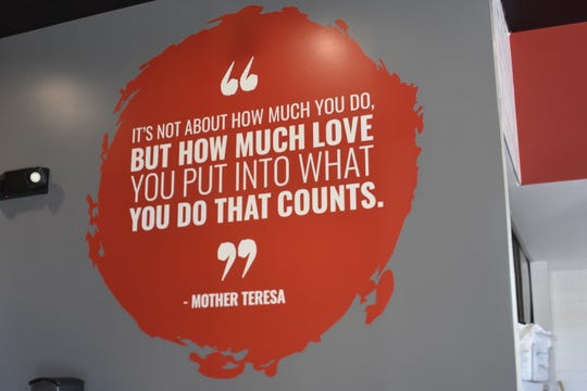 A Mother Teresa quote that speaks to Kirti Patel is on the wall of the new Teriyaki Madness in Hendersonville: 'It's not about how much you do, but how much love you put into what you do that counts.'