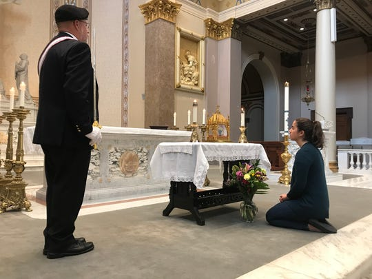 The heart relic of St. Jean Vianney, the patron saint of parish priests, is traveling the country and made a one-day stop at the Cathedral of the Incarnation in Nashville on Wednesday. The relic will be in Knoxville on Thursday.