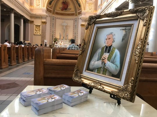 The heart relic of St. Jean Vianney, the patron saint of parish priests, is traveling the country and made a one-day stop at the Cathedral of the Incarnation in Nashville.