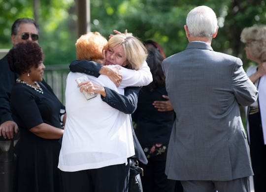 Family and friends honor longtime Metro employee Charlie Cardwell on Wednesday, May 22, 2019.