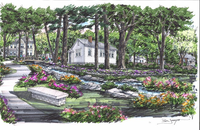 A rendering of what the schoolhouse would look like on the downtown Franklin campus.