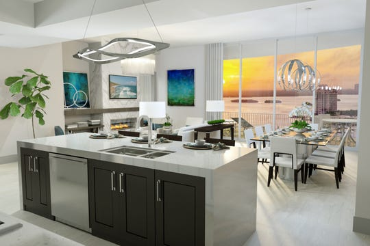 The Grandview at Bay Beach will feature 58 open-concept residences ranging from 2,400 to 2,900 square feet .