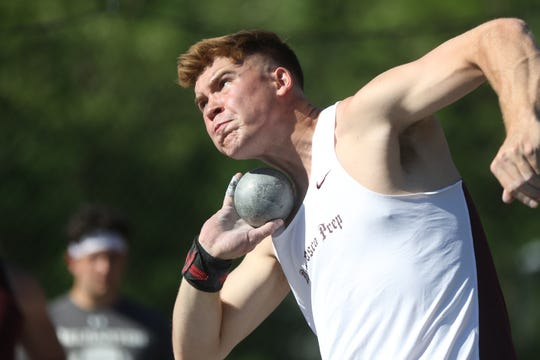 Connor Mathis, of Don Bosco, led the state all season in the shot put.