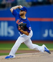 New York Mets starting pitcher Zack Wheeler pitches in the first inning against the Washington Nationals at Citi Field on May 21, 2019.
