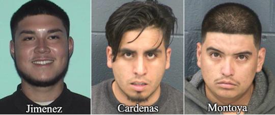 Estevan Miguel Jimenez, Adam Cardenas and Robert Montoya.