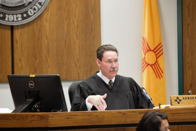 Third District Judge James T. Martin in his Las Cruces courtroom on Wednesday, May 22, 2019.