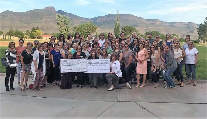100 Women Who Care Alamogordo donate $12,000 to Boys and Girls Club at their quarterly meeting May 6.