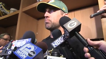 Green Bay Packers quarterback Aaron Rodgers talks about the young QBs vying for the team's backup job.