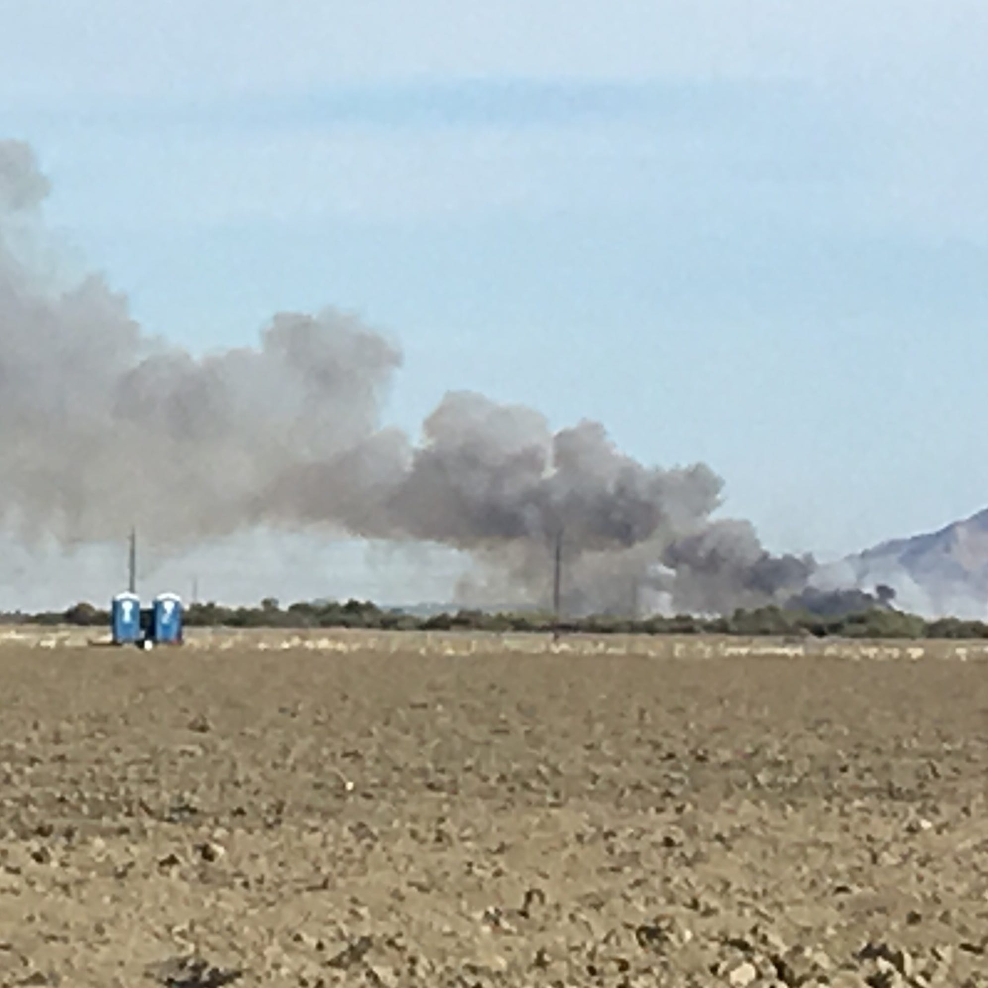 Second Thermal fire, on tribal land, fully contained. Crews will remain to prevent flare-up