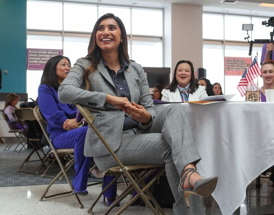 60th District Assemblywoman Sabrina Cervantes attends a conference in San Bernadino, May 10, 2019.