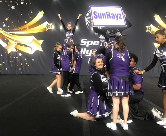 The Santa Rosa County SunRayz, a Special Olympics cheerleading squad, brought home their first gold medals at the state Special Olympics Summer Games in Orlando last weekend.