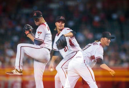 Arizona Diamondbacks pitcher Zack Greinke (21) could be in demand at the 2019 MLB trade deadline.