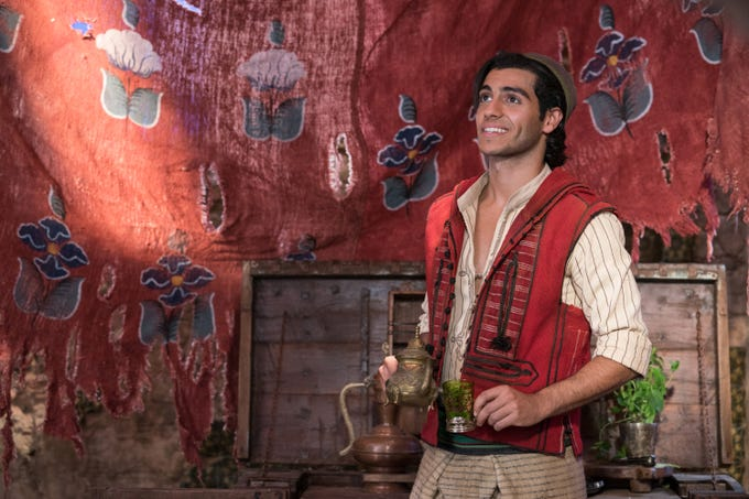 "Mena Massoud plays Aladdin in ""Aladdin."""