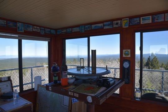 Tools of a fire lookout's trade.