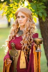 "Professional cosplayer Lindsay Elyse as Cersei Lannister from ""Game of Thrones"""